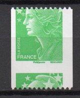 - FRANCE Variété 4186c ** - (TVP) Vert Marianne De Beaujard Roulette 2008 - PIQUAGE A CHEVAL - Cote 40 EUR - - Variétés Et Curiosités