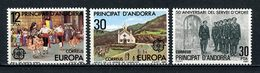 ANDORRE ESP 1981 N° 131/133 ** Neufs MNH Superbes C 2,50 € Europa Danses Folkloriques Vierge Canalich Service D' Ordre - Spanish Andorra