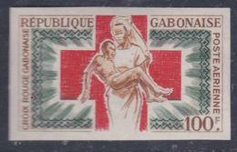 Gabon PA  N° 36 Nd XX Croix-Rouge Nationale Non Dentelé Sans Charnière, TB - Gabon (1960-...)