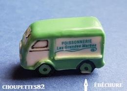 Fèves Fève Voiture /camion Magasin à Votre Service Poissonnerie (petite ébréchure)*1034* - Autres