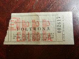 3695) BIGLIETTO CINEMA O TEATRO EPOCA FASCISTA SENZA INDICAZIONE DI LOCALITA' PRIBABILMENTE 1927 - Biglietti D'ingresso