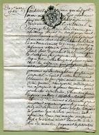 """DOCUMENT De 1768  : """" BOURMONT - BAILLAGE DU BASSIGNY """"  Sur Papier Parchemin (LORRAINE) - Cachets Généralité"""