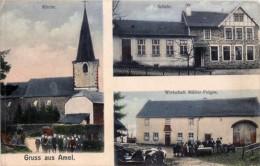 Amblève-Amel - Gruss Aus Amel - Wirtschaft Müller-Feigen - Schule - Kirch - Feldpostkarte - 3526 - Amblève - Amel