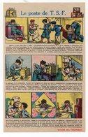 Feuille (genre Image D'Epinal) Offerte Par LESIEUR: Le Poste De TSF (dessins De GERMAINE BOURRET) (CAT 1340) - Vieux Papiers