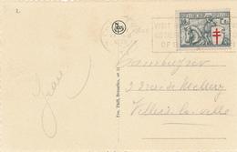 667/28 -  Carte-Vue TP 394 Antituberculeux Chevalier CHARLEROI 1935 - TARIF IMPRIME EXACT - COB 25 EUR S/l. - Maximum Cards