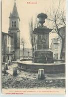 CPA 12 Aveyron Cornus Près Tournemire La Fontaine Et L'Eglise - Autres Communes