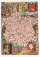 - CPSM CARTES GÉOGRAPHIQUES - Département N° 8 ARDENNES - Editions BLONDEL LA ROUGERY 1946 - - Landkarten