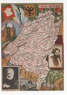 - CPSM CARTES GÉOGRAPHIQUES - Département N° 25 DOUBS - Editions BLONDEL LA ROUGERY 1946 - - Landkarten