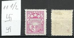 Latvia Lettland 1927 Michel 121 * Signed - Lettland
