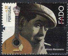 Timbre Oblitéré Used Stamp FADO Alfredo Marceneiro 0,32 Euro PORTUGAL 2011 - 1910-... République