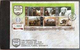 Isle Of Man 2014 First Day Cover - Rare Breeds - Isla De Man