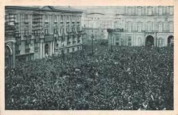 """0866 """"NAPOLI - VISITA DEL DUCE OTTOBRE 1931""""  ANIMATA. FOTO PARISIO ESCLUSIVA DEL GIORNALE D'ITALIA. CART  SPED 1933 - Napoli"""