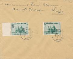 671/28 -  Enveloppe TP 472 Et 481 Basilique ANTWERPEN 1939 Vers LIEGE - TARIF EXACT 75 C - Maximum Cards