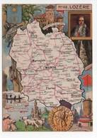 - CPSM CARTES GÉOGRAPHIQUES - Département N° 48 LOZÈRE - Editions BLONDEL LA ROUGERY 1946 - - Landkarten