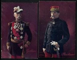 JL DIV- LOT 10 CPA ANCIENNES MILITARIA FRANCE- SÉLECTION PERSONNAGES GUERRE 1914-18-  5 SCANS - Personnages