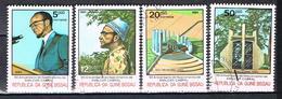 60è Anniversaire De La Naissance D'Amiclar Cabral N°296 à 299 - Guinée-Bissau