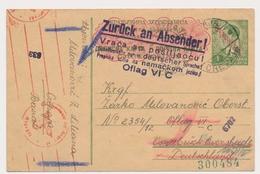 Correspondance MILITAIRE Prisonnier De Guerre 1941 Camp Oflag VI C  Zuruck An Absender Jugoslavija Vintage Old Postcard - Guerra 1939-45