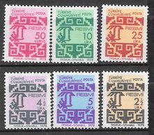 Turchia 1978 Francobolli Di Servizio. Nuovo Disegno Serie Completa Nuova/mnh** - 1921-... Repubblica