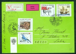 Croatia 1992 FDC Fauna Discovery Of America Columbus EUROPA CEPT Snake Bird Worth Express Letter Cover - Belarus