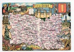 - CPSM CARTES GÉOGRAPHIQUES - Département N° 60 OISE - Editions BLONDEL LA ROUGERY 1945 - - Landkarten