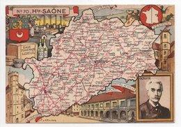 - CPSM CARTES GÉOGRAPHIQUES - Département N° 70 HAUTE-SAÔNE - Editions BLONDEL LA ROUGERY 1946 - - Landkarten
