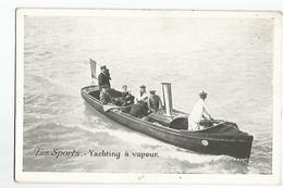 CPA Sports Yachting A Vapeur Publicité  Chicorée A La Bergere Emile Bonzel Haubourdin - Cartes Postales