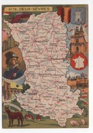 - CPSM CARTES GÉOGRAPHIQUES - Département N° 79 DEUX-SÈVRES - Editions BLONDEL LA ROUGERY 1946 - - Landkarten
