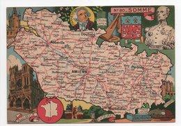- CPSM CARTES GÉOGRAPHIQUES - Département N° 80 SOMME - Editions BLONDEL LA ROUGERY 1946 - - Landkarten