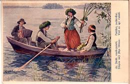 LATVIA.LETTLAND. Kasparsons. Ligo. Latvian Painters 1930s Photo Postcard - Latvia