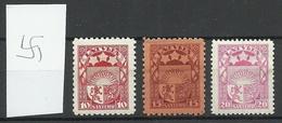 Latvia Lettland 1927/31 Michel 119 - 121 * - Lettland