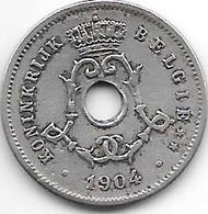 Belguim 5 Centimes 1904 Dutch   Vf - 1865-1909: Leopold II