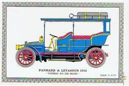 VOITURE  PANHARD &  LEVASSOR  1905    TONNEAU ROI DES BELGES    DESSIN A KOW  ****      A   SAISIR ***** - Cartes Postales