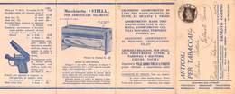 """0872 """"TORINO - E. GODINO-ARTICOLI PER TABACCAI-CARTINE-BOCCHINI-MACCHINETTA STELLA""""  SPEDITO 1935. UBBL. ORIG. - Publicités"""