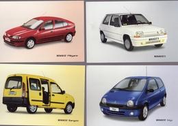 Lot De 9 Cartes Promos   -  Voitures RENAULT  -  Publisher: Renault Netherlands - Voitures De Tourisme