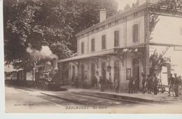 C P A - BRIGNOLES - LA GARE - JARRIOZ - TRAIN - ANIMEE - - Brignoles