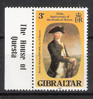 Gibraltar 1980 175th Anniversary Of The Death Of Lord Horatio Nelson. Mi 409 MNH(**) - Gibraltar