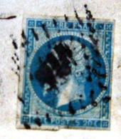 LOSANGE PETIT CHIFFRE SUR NAPOLEON ET CACHET ROND DNICE 1861 SUR LETTRE  2 SCAN - Marcophilie (Lettres)