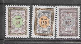 Turchia 1968 Francobolli Di Servizio. Nuovo Disegno Serie Completa Nuova/mnh** - Francobolli Di Servizio