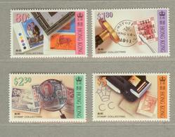 HONG KONG,  1992  Stamp Collecting 4v  MNH - Unused Stamps