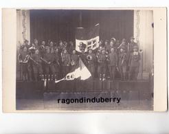 CPA PHOTO - POLOGNE - TESCHEN -CIESZYN - MILITARIA - MUSIQUE Des CHASS ALPINS FRANCAIS Et ITALIENS 1920 Conflit POL TCHE - Pologne