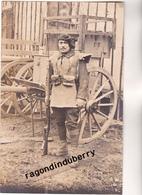 CPA PHOTO - TCHECOSLOVAQUIE - KARVINA - MILITARIA - Soldat Du 15ème Bat CHASSEURS ALPINS  Conflit POLOGNE TCHECOS 1920 - Tchéquie