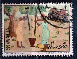 PIA - SOMALIA - 1966: Arte Somala - Donne Al Mortaio  - (Yv  58) - Somalie (1960-...)