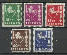 LITAUEN Lithuania 1937/39 Michel 413 - 416 & 432 MNH/MH - Lituanie