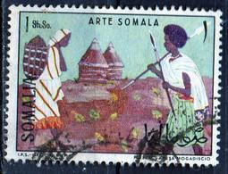 PIA - SOMALIA - 1966: Arte Somala - Guerriero E Donna  - (Yv  56) - Somalie (1960-...)