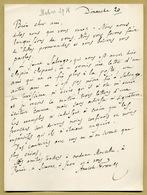 Anatole France (1844-1924) - Jolie Lettre Autographe Signée En 1918 - Prix Nobel - Autographes