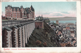 Vintage - CPA Québec - Château Frontenac - Terrace Dufferin - Unused - 2 Scans - Québec - Château Frontenac