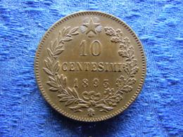 ITALY 10 CENTESIMI 1893 BI, KM27.1 - 1861-1946 : Royaume