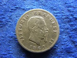 ITALY 1 LIRA 1863 M, KM5a.1 Rubbed - 1861-1878 : Vittoro Emanuele II