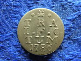 NETHERLANDS UTRECHT 2 STUIVERS 1786, KM112 - [ 5] Monnaies Provinciales