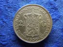 NETHERLANDS 2,5 GULDEN 1930, KM165 Scratched Below 2 - [ 3] 1815-… : Royaume Des Pays-Bas